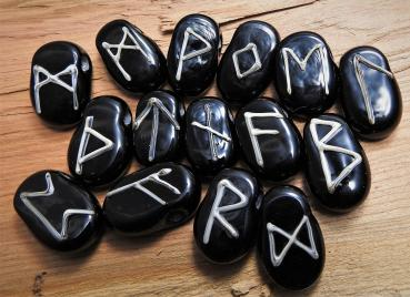 Runes black with ivory dark